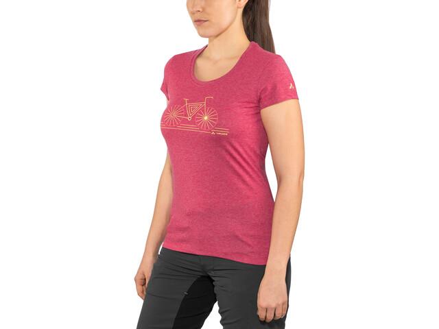 VAUDE Cyclist IV T-Shirt Dames, crimson red